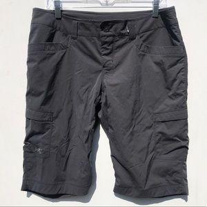 ARC'TERYX women's dark grey hiking long shorts 10